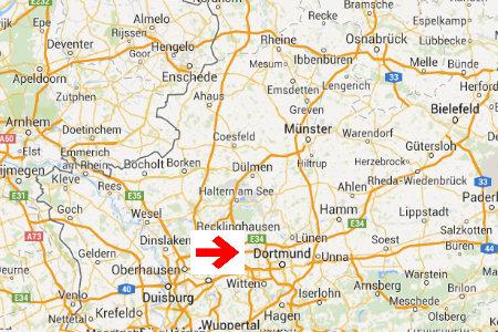 kaart plattegrond dortmund