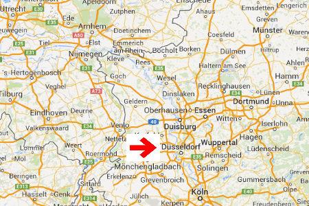 kaart plattegrond dusseldorf