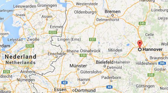 kaart plattegrond hannover