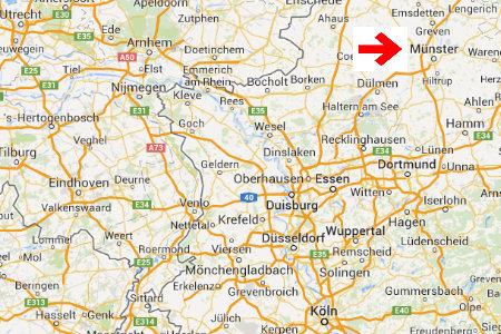 kaart plattegrond munster