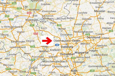 kaart plattegrond oberhausen