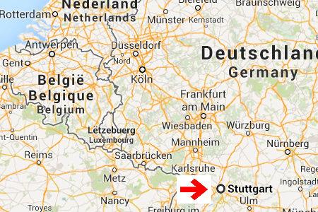 kaart plattegrond Stuttgart