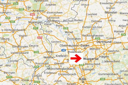 kaart plattegrond wuppertal